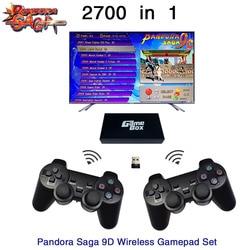 2700 en 1 Pandora Saga Box 9D tablero 2 jugadores con cable Gamepad y juego de Gamepad inalámbrico Usb conectar joypad arcade juegos 3D Tekken