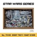 Кирпичи игрушки DIY Совместимость StarWars тысячелетия 05007 Тысячелетнего Сокола, 79211 10467 81009 космический корабль строительные блоки для мальчиков...