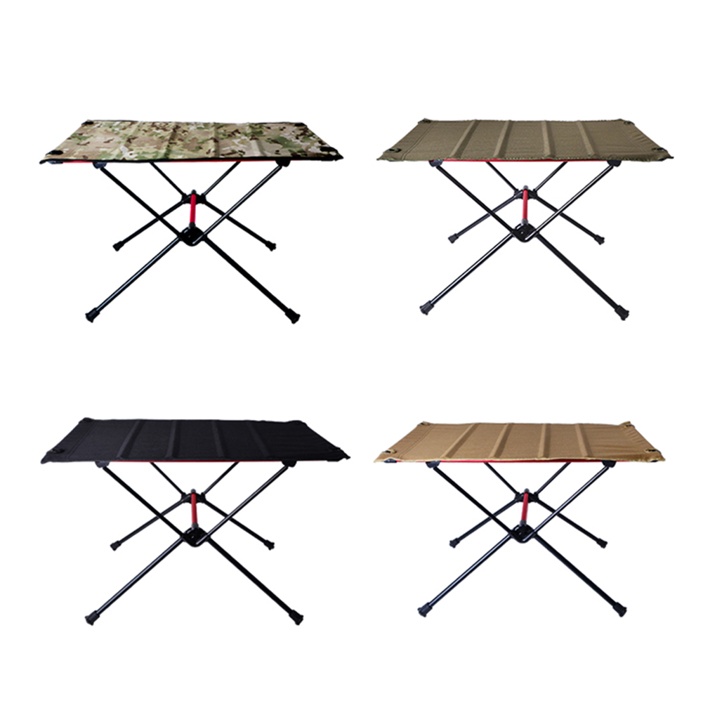 Portable Foldable Camping Table Aluminum Alloy Outdoor Furniture Dinner Desk for Family Party BBQ Picnic