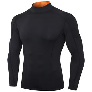 Męska koszulka kompresyjna do biegania Fitness dopasowana długa koszulka sportowa koszulka treningowa do biegania koszule odzież sportowa na siłownię szybkoschnąca koszulka tanie i dobre opinie CN (pochodzenie) Pasuje prawda na wymiar weź swój normalny rozmiar Szybkie suche