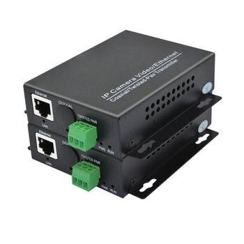 Jedna para przedłużacza Ethernet na skręconym konwerterze 2KM dla nadajnika wideo IP kamery IP na skręcie