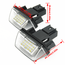High Quality 2Pcs 18 LED License Plate Lights Lamp For Peugeot 206 207 307 308 406 Citroen C3/C4/C5/C6