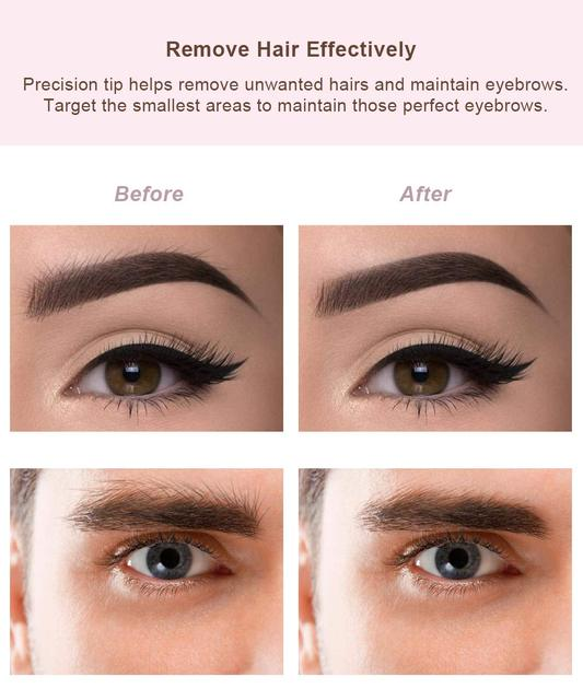 Eyebrow Hair Remover for Women, Eyebrows Hair Removal Electric Trimmer Razor Battery Operated for Smooth Finishing and Painless 3