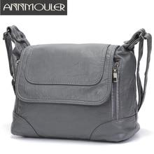 Annmouler Tote-Bag Crossbody-Bag Soft Large Women Brand Messenger-Bag Pu Bolsa Quality