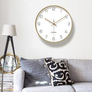 Image 4 - Einfache Kreative Kunst Gold Mode Wanduhr Moderne Home Studie Stumm Uhr Mode Dekorative Quarz Uhr