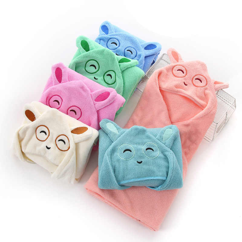 Gao Yang Towel Pure Cotton Hooded Bath Towel For Children Infants Baby's Blanket Cloak Gift