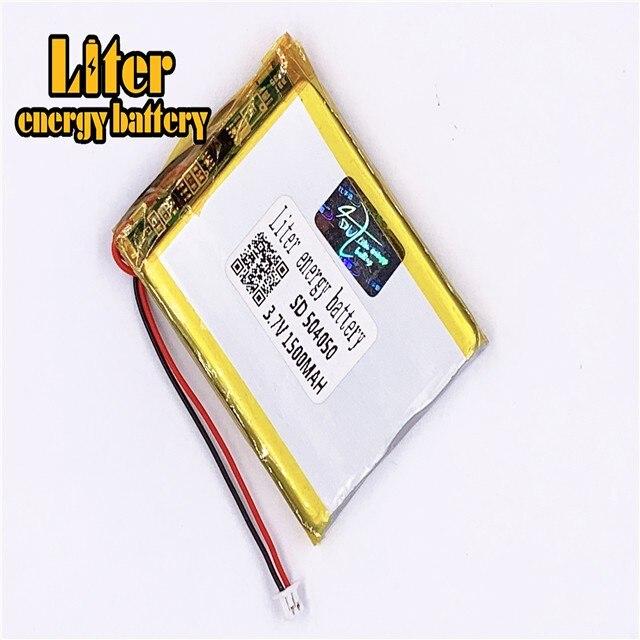 1,25 мм 2pin разъем литий-полимерные батареи 504050 3,7 в 1500 мАч литий-полимерная батарея lipo батарея с проводом