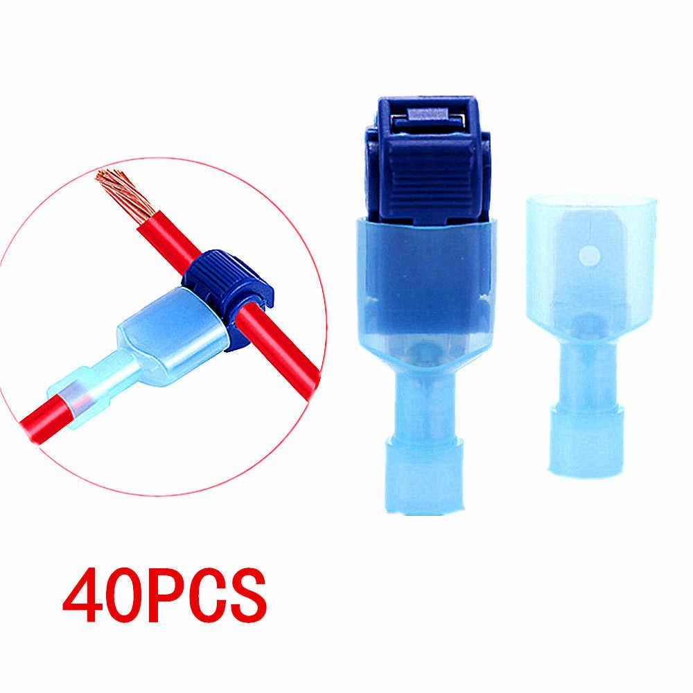 5pcs Quick Slide Terminal Blue 0,4 ÷ 0,9mm 3m