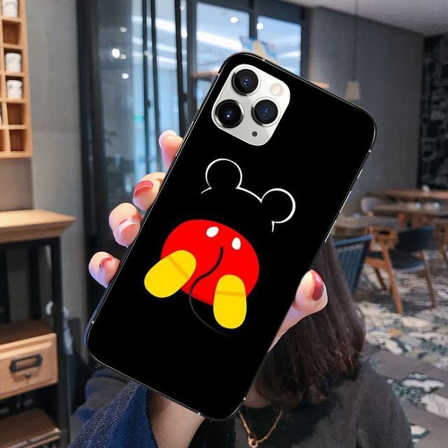 Disneys Mickeys Mouse BLACK TPU soft silicone phone case for iPhone 11 Pro MAX XR XS MAX SE 5 5S 6 6S 7 8Plus 10 Phone Cover