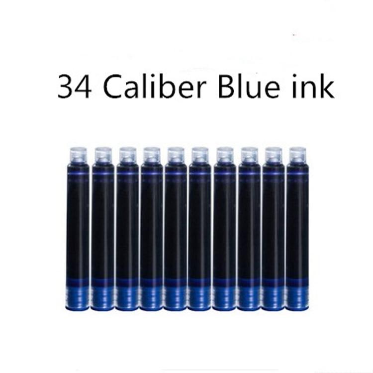 Black / Blue 30 Pieces Black Fountain Pen Ink Cartridges 3.4mm Diameter for Ink Pen / Wing Sung Pens
