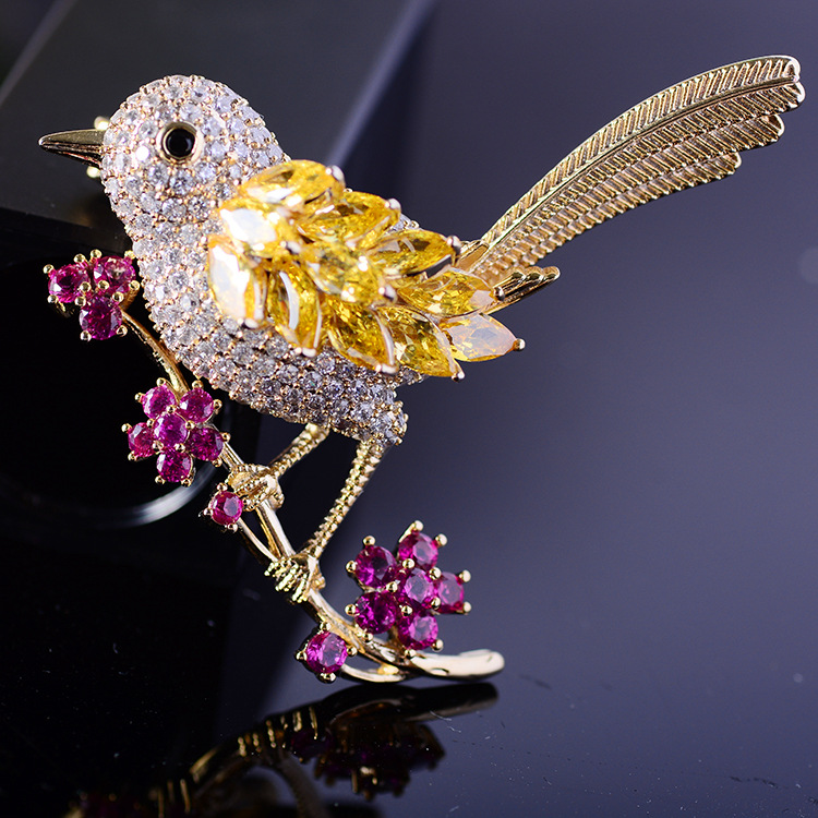 Bird Brooch Pins Magnet Pin Cute Pins Accessories for Clothes Decoration Brooch Pins Fine Jewelry Copper Brooch Zircon Brooche-1