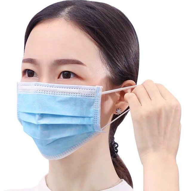 50pcs Men Women adult Cotton Anti Dust Mask Activated Filter 3 layers mouth mask muffle Bacteria Proof Flu Face Masks 1