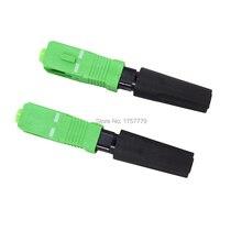 100PCS SC single mode fiber optic SC APC schnell anschluss FTTH Fiber Optic Schnelle Stecker Kostenloser versand