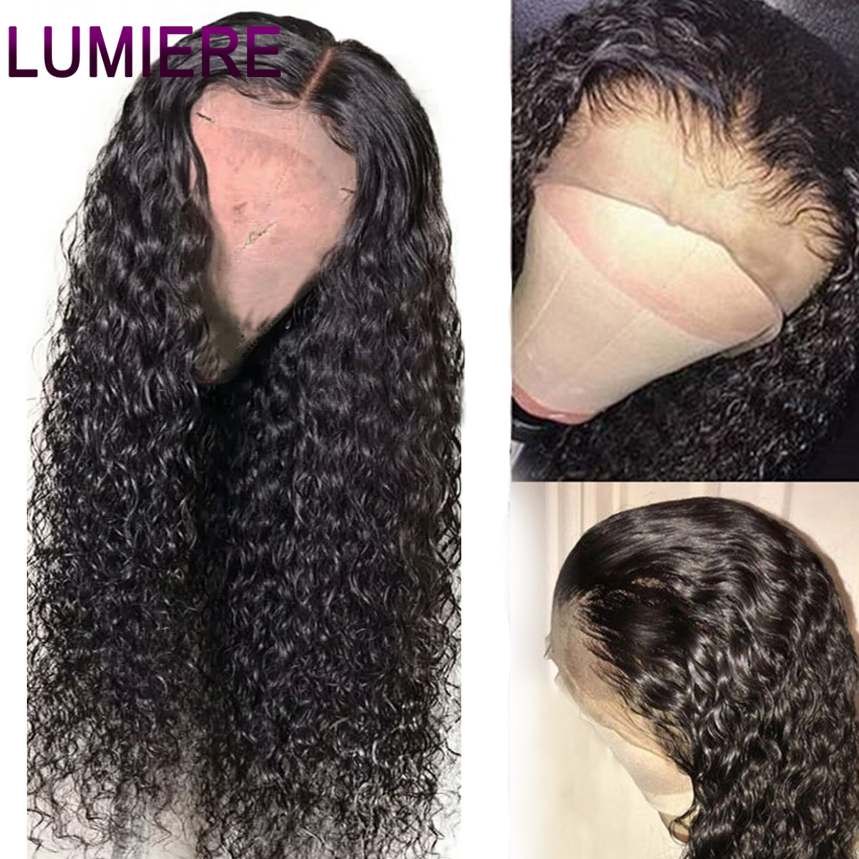Lumiere Hair Brazilian Water Wave Wigs 13x4 Lace Front Human Hair Wigs Non-Remy Human Hair Pre-Plucked With Baby Hair Lace Wig