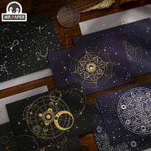 Mr Paper 3 pcs/set 4 Designs Galaxy Universe Series Envelopes With Bronzing Letter Paper Hand Account DIY Decoration Material