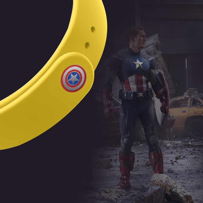Band Strap Für mi band 4 / 3 Zubehör armband Armband Mi Band 3 Silikon Handgelenk Strap Avengers Iron Man marvel