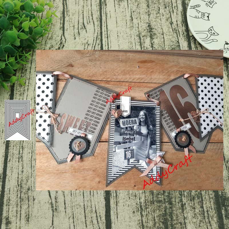 Metal Cutting Dies 9pc Tag 2 Cut Die Mold Decoration Scrapbook Paper Craft Knife Mould Blade Punch Stencils Die