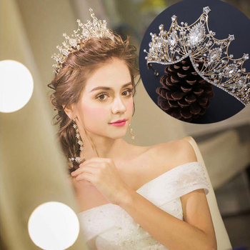 TOPQUEEN HP334 Baroque Queen Crown, Rhinestone Wedding Tiaras and Crown for Bride Crystal Headband Tiara for Women and Girls