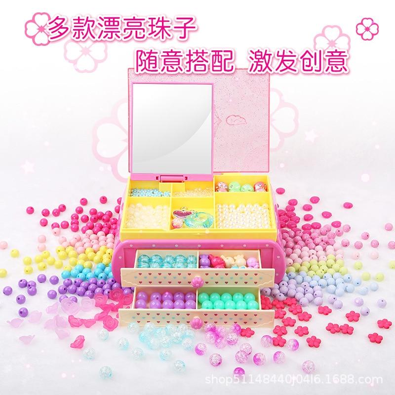Toys Small Flower Fairy Flowers Sunrex Jewlery Box Children Bead Toy Handmade Bead Weaving Best Quality DIY Bracelets