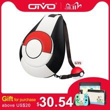 OIVO Schalter Lagerung Tasche für Nintend Schalter Tragbare Schutz Crossbody Tasche Weichen PU Leder Rucksack Große Kapazität Taschen für NS