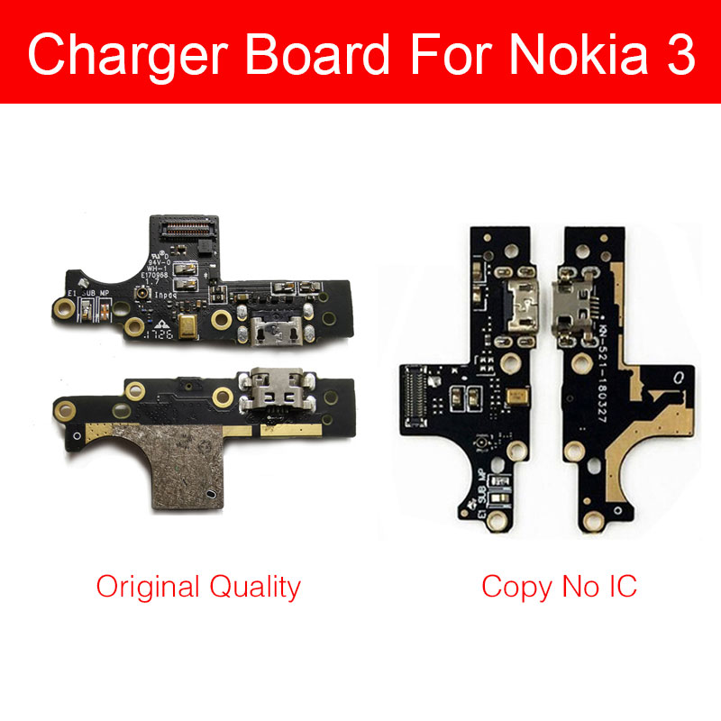 Microphone & Usb Charger Board For Nokia 3 TA-1020 TA-1032 Micro Charging Jack Port Dock Connector Board Flex Cable Repair Parts