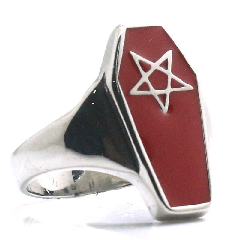 Stainless Steel 2 Color Vampire Ghost Skull Bat Wing Biker Ring