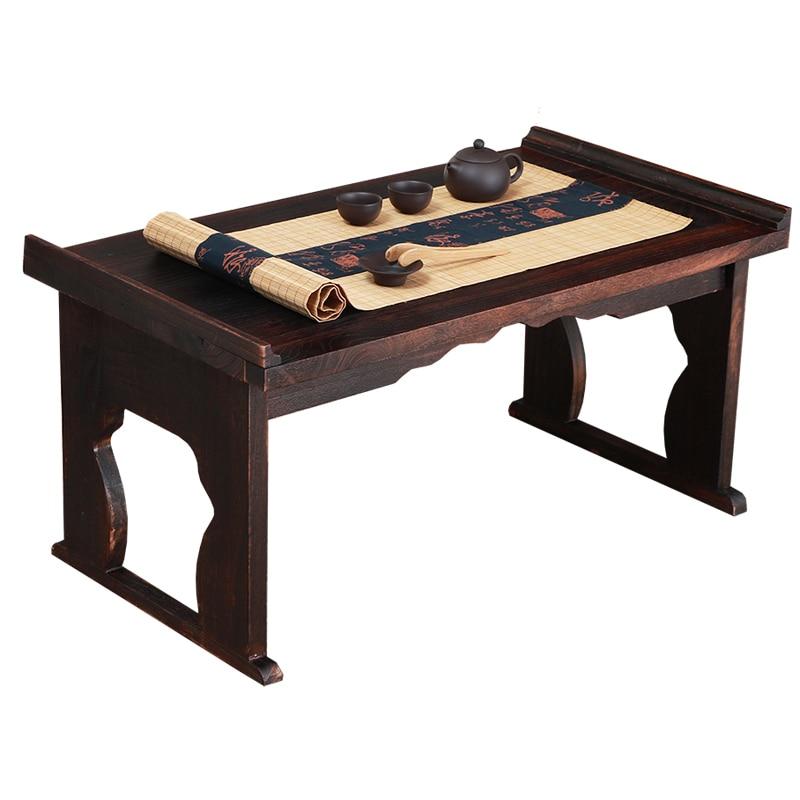Japanese Table Folding Leg Rectangle Paulownia Wood Traditional Asian Furniture Tea Table Living Room Tables Coffee