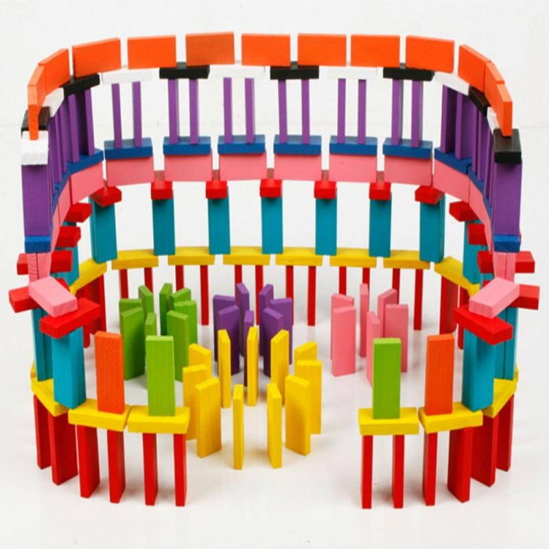 120Pcs Domino Racing Toy Automatic Laying Domino Brick Train Car Set sound light kids Colorful Plastic Dominoes Blocks Game Toys