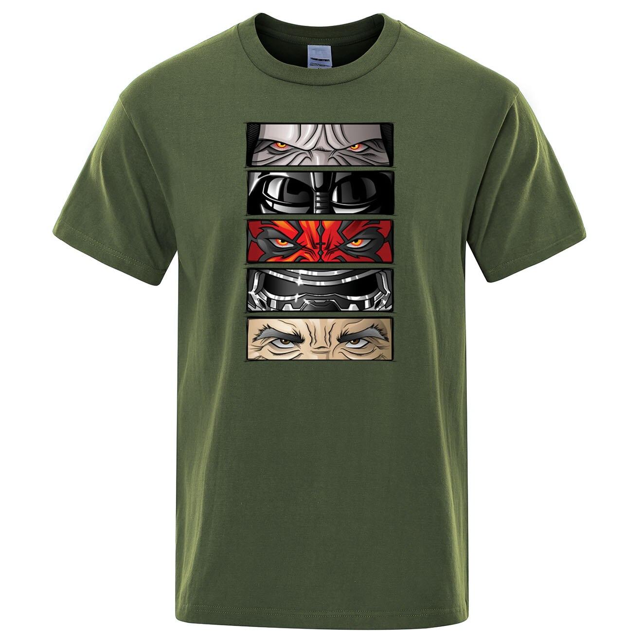 Eyes Of Dark Print Mens T Shirt Movies Short Sleeve Men T-Shirt Summer Cotton Tops Men T Shirts Harajuku Streetwear Tee Shirt