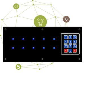 Синяя панель памяти реквизит для побега из комнаты синие диоды панель Takagism Светлая память командная работа игра в реальном времени