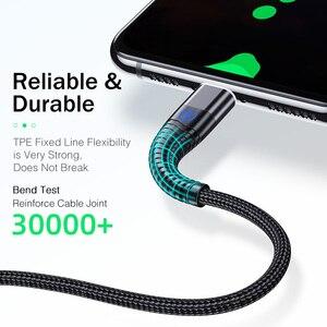 Image 2 - מגנטי כבל עבור iPhone סמסונג YKZ 3A מהיר טעינה מגנט טלפון USB כבל מיקרו USB סוג C כבל מגנט מטען & נתונים סנכרון