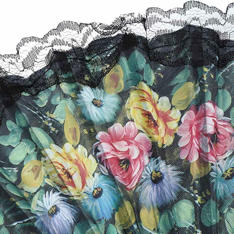 Мини цветы узор волна край кружева Испанский Стиль Ручной Веер черный, зеленый