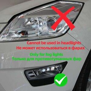 Image 5 - 2PCS H1 H3หลอดไฟLed 4014 36SMD 6000Kสีขาวรถหมอกไฟขับรถวิ่งโคมไฟ12V H1 h3 Ledเปลี่ยนหลอดไฟ