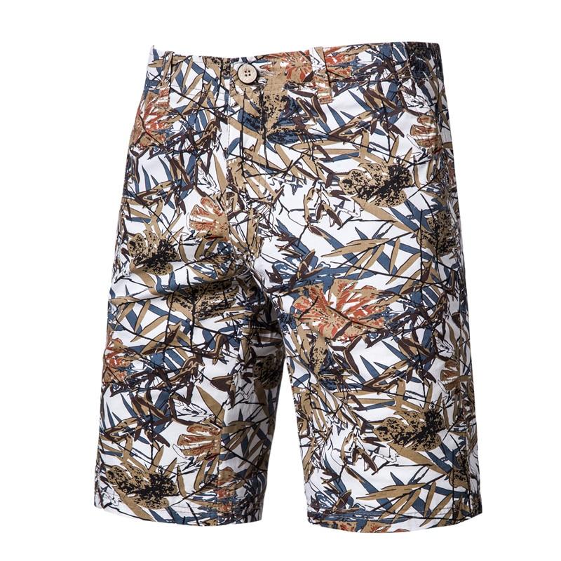 2020 New Summer Print Beach Shorts Men 100% Cotton Casual Mens Shorts High Quality Brand Clothing Comfortable Male Short Pants