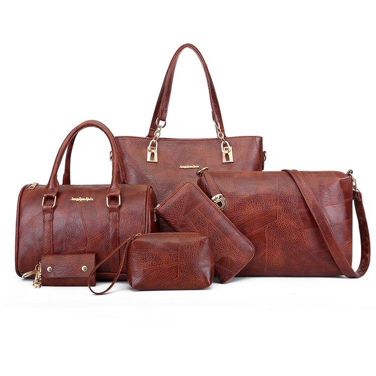 Big Bags Women New Mother Bag Retro 6 Pcs/set Shoulder Bag Large Capacity Handbags Women's Handbags