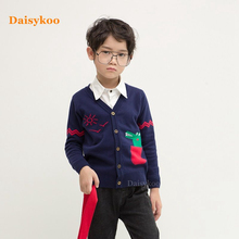 2019 Boys Sweater Knitted Cotton Toddler Clothing Autumn Winter Kids Pullover Outerwear Coat Y013