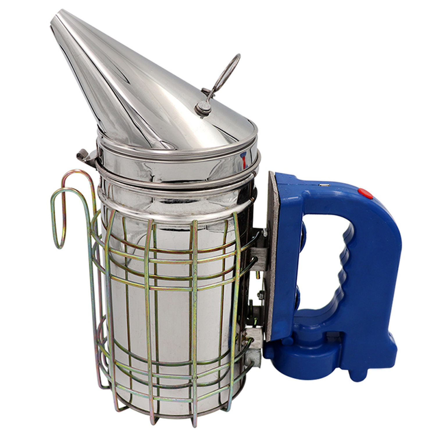 Electric Bee Hive Smoker Stainless Steel with Heat Shield Beekeeping Equipment