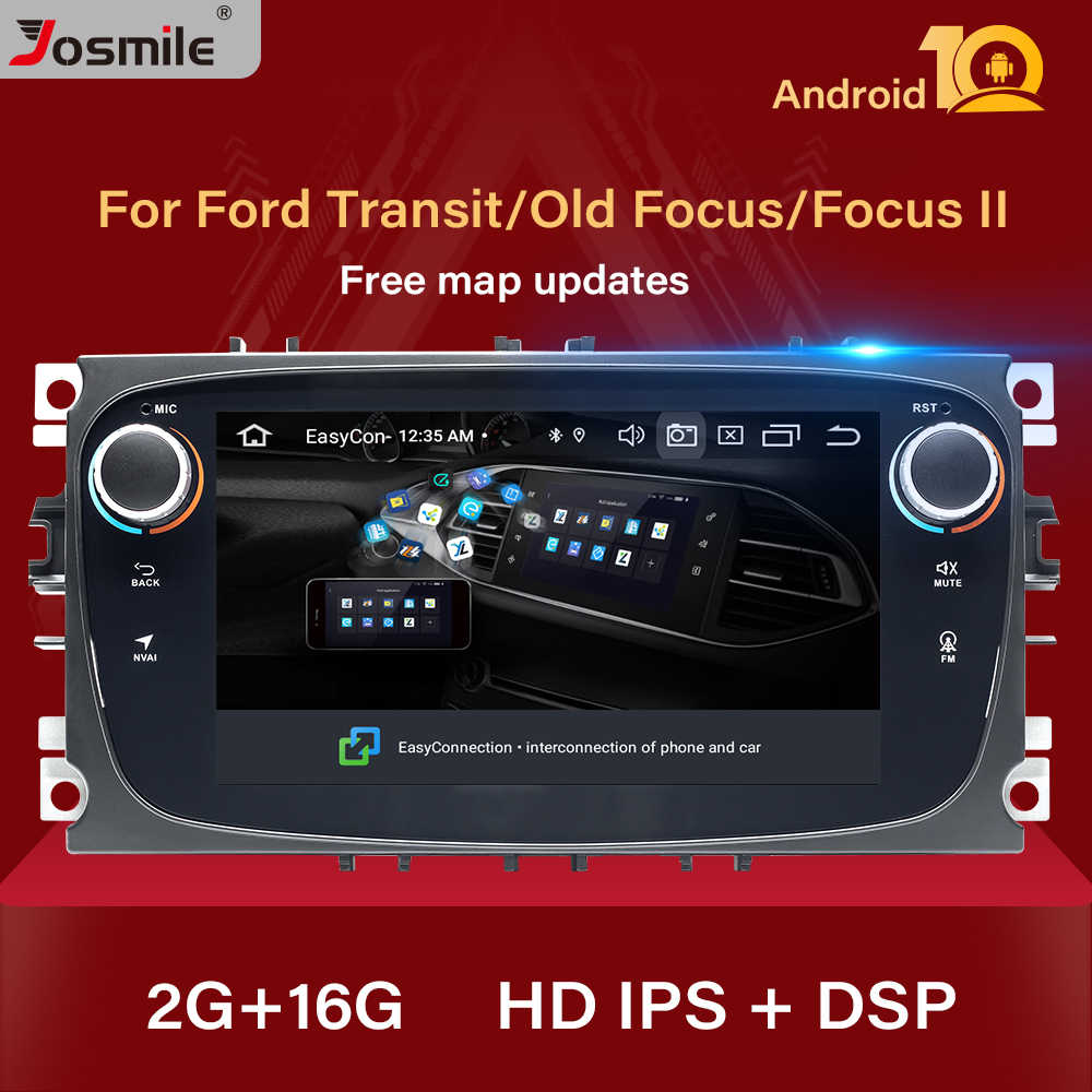 Autoradio DSP 2din Android 10 pour Ford Focus 2 3 mk2 Kuga Mondeo 4 Fiesta Transit Connect S-C