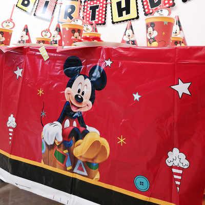 31pcs บอลลูน Arch สีแดง Mickey Mouse Theme ช้อนส้อมเด็กวันเกิดตกแต่งครอบครัวเพื่อน Disposable Tableware Part