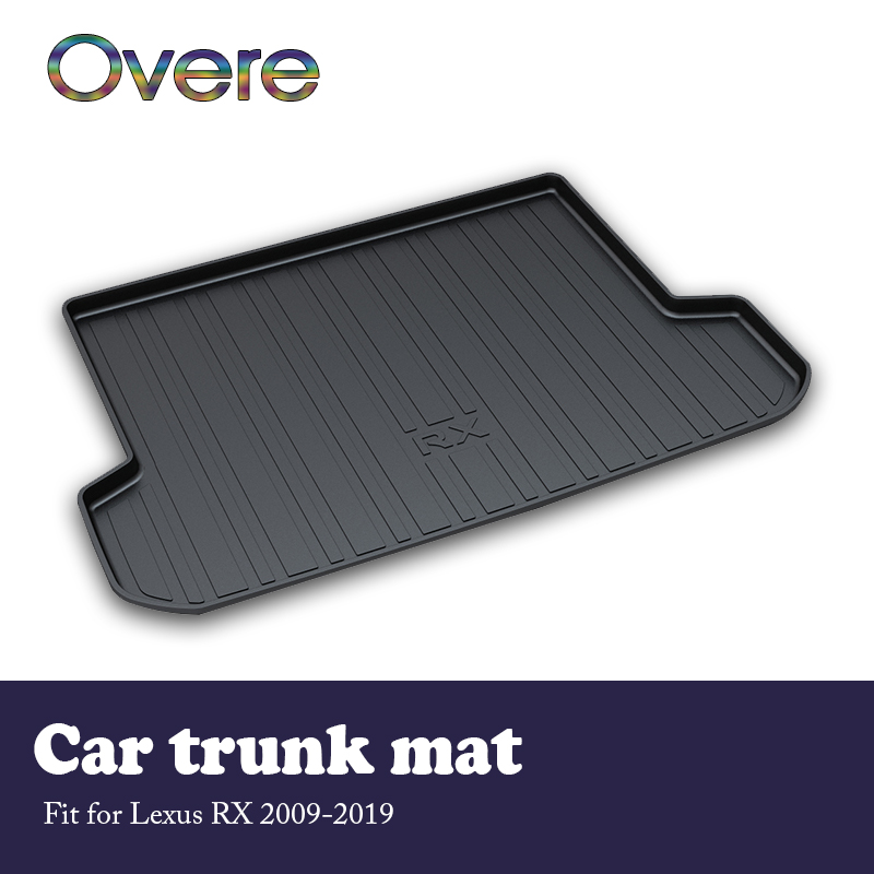 Overe 1Set Car Cargo rear trunk mat For <font><b>Lexus</b></font> <font><b>RX</b></font> 2009 2010 2011 2012 2013 2014 2015 2016 2017 2018 <font><b>2019</b></font> Waterproof mat Styling image