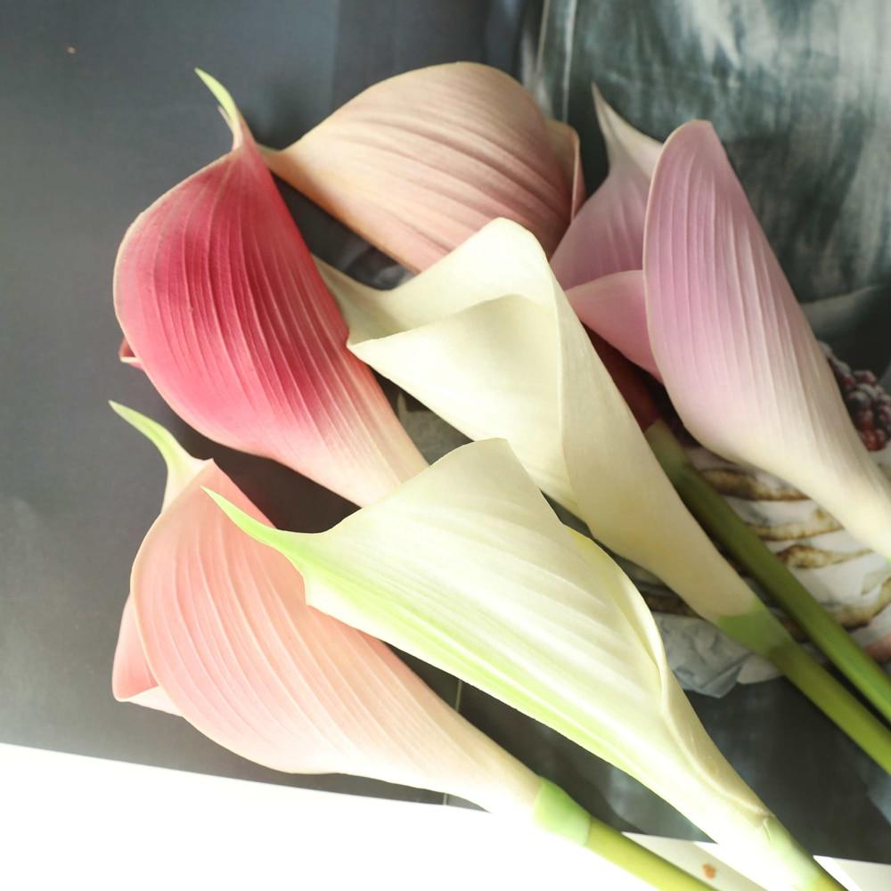 Искусственные цветы из искусственной кожи на ощупь, пальма, ветка лилии, искусственный цветок, букет в стиле NS, модель стола, украшение для д...