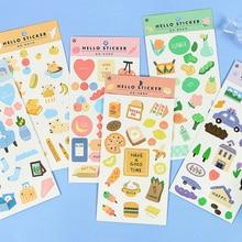 Mohamm 1 лист синтетической бумаги Плоские наклейки креативный маленький свежий декоративный стационарный Скрапбукинг подарок для девочек школьные принадлежности