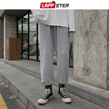 Trousers Harem-Pants Hip-Hop Oversized Men LAPPSTER Vintage Harajuku Mens Male Rainbow-Print