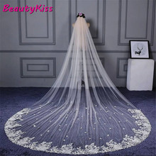 Bridal Veil Wedding-Veils Lace Cathedral Ivory White Long