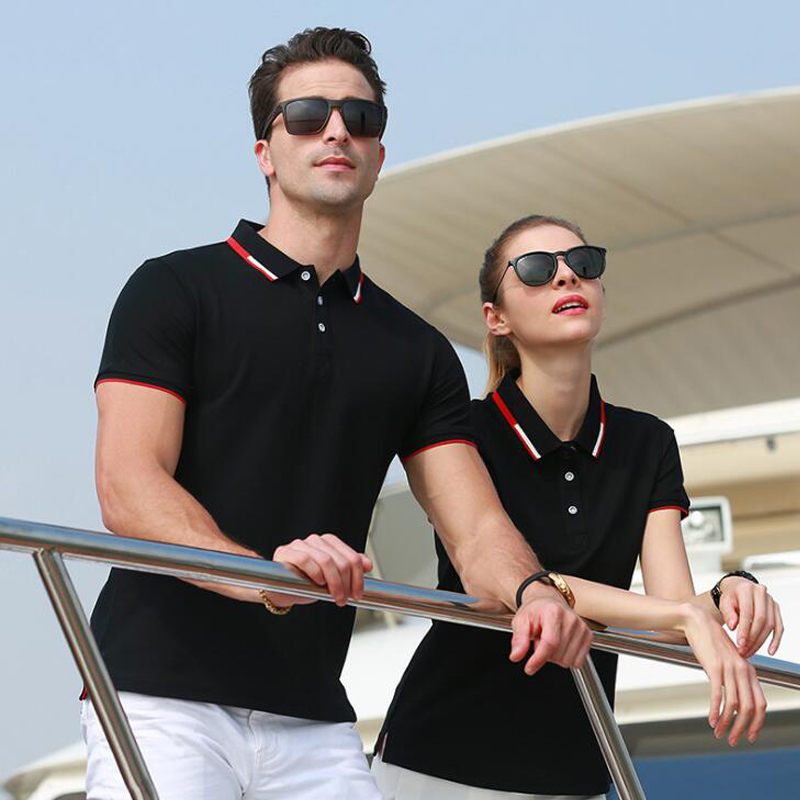 Summer New Polo Shirt High Quality Brand Men's / Women's Polo Shirts Short Sleeved Casual Solid Shirt Polo Men Tops