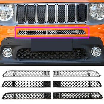 YCCPAUTO 2 шт./компл. автомобильные аксессуары из АБС-пластика на лицевой стороне насекомых решетка сетки для Jeep Renegade 2019 до Серебряный