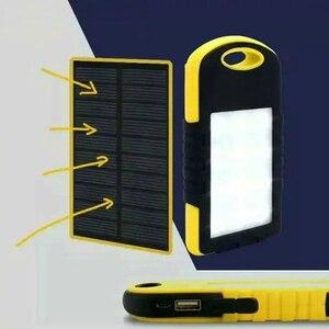 Image 4 - Năng Lượng Mặt Trời 10000 MAh Power Bank Chống Thấm Nước Năng Lượng Mặt Trời Sạc Dual USB Bên Ngoài Sạc Dự Phòng Powerbank Cho Xiaomi Huawei Iphone 7 8 Samsung