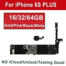 Tehxv 오리지널 마더보드 아이폰 6S 플러스 터치 ID 16GB 64GB 128G 골드 화이트 핑크 블랙 잠금 해제 혼, 4G 지원