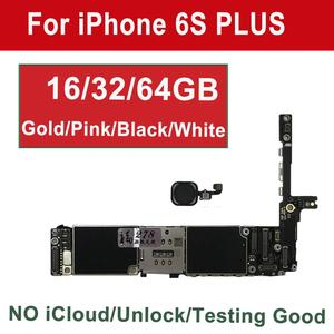 Image 1 - Tehxv Original Motherboard For iPhone 6S Plus with Touch ID 16GB 64GB 128G Gold White Pink Black Unlock iCloud 4G Support