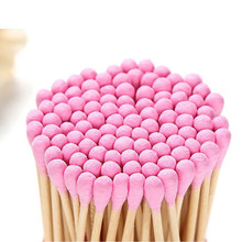 100/200pcs Pack Double Head Cotton Swab Women Makeup Cotton Buds Tip Medical Wood Sticks Nose Ears Cleaning Health Care Tools